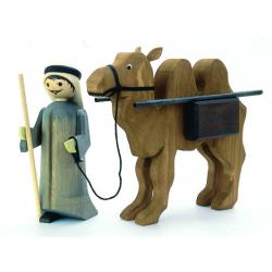 Ulmik - Kameltreiber mit Kamel Pak. gebeizt 13cm