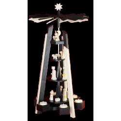 Ulmik - MODERN LINE Pyramide Geburt 4-st. Schwarz-Weiß