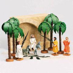Walter Werner -  Einzug in Jerusalem mit 4 Palmen, 10 teilig