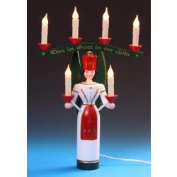 Schalling - Lichterengel mit Joch, 46 cm farbig, el beleuchtet