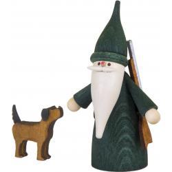 Seiffener Volkskunst eG - Miniaturen Jägerwichtel mit Hund, 7cm