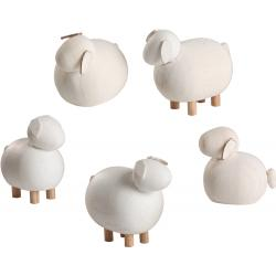 Seiffener Volkskunst eG - Miniaturen Schafe 5 teilig, 3,5cm