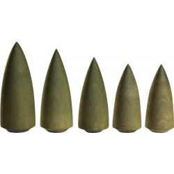 Seiffener Volkskunst eG - Miniaturen Bäume grün 5 er Satz, 9cm