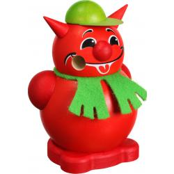 Seiffener Volkskunst eG - Kugelräucherfigur klein Teufel, 8cm