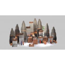 Rauta Edition FG  - Dekorationswürfel - Leuchter mit Glas und Deckel