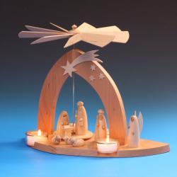 Schalling - Pyramide Christi Geburt mit Hirte, natur